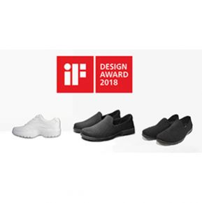 CAPTION: Last year (2017), DA.AI's Eco Puncture-proof Casual Shoes received the Red Dot Product Design Award Honorable Mention and China Good Design Award winner. The   honor continues this year, as the puncture-proof shoes series is once again recognized by the iF organization. (Photo by: DA.AI Technology Co., Ltd.)