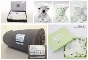 得獎產品:Cute Baby嬰兒禮盒、灰色環保毛毯、超細纖維機能毛毯禮盒、環保動物毛毯無染系列。100%回收寶特瓶製成,細緻柔軟,極具保暖效果並達到節能減碳。